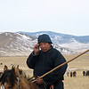 Herder on the steppe. (Buryatia, Russia)