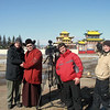 RT crew with monk outside Ivolginsky Datsan. (Buryatia, Russia)