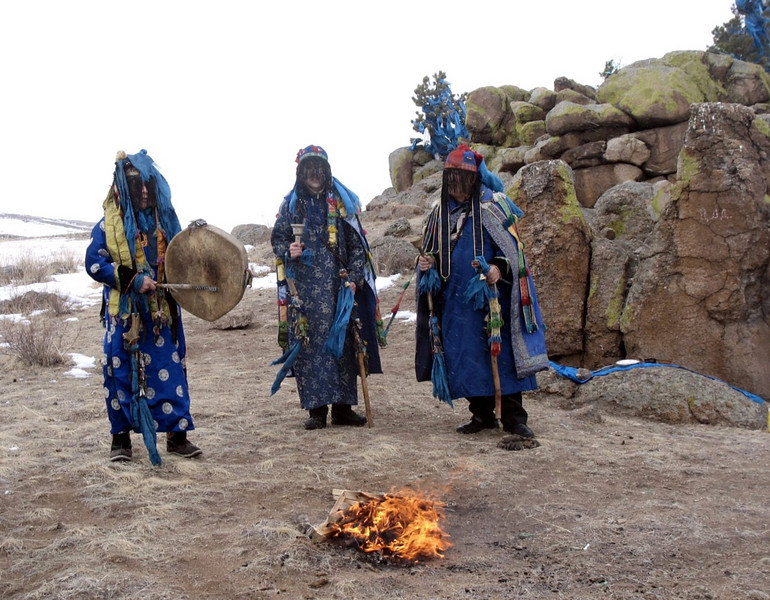 Shaman ceremony. (Buryatia, Russia)