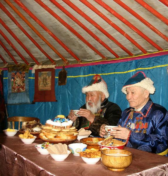 Tea time with the elders. (Buryatia, Russia)