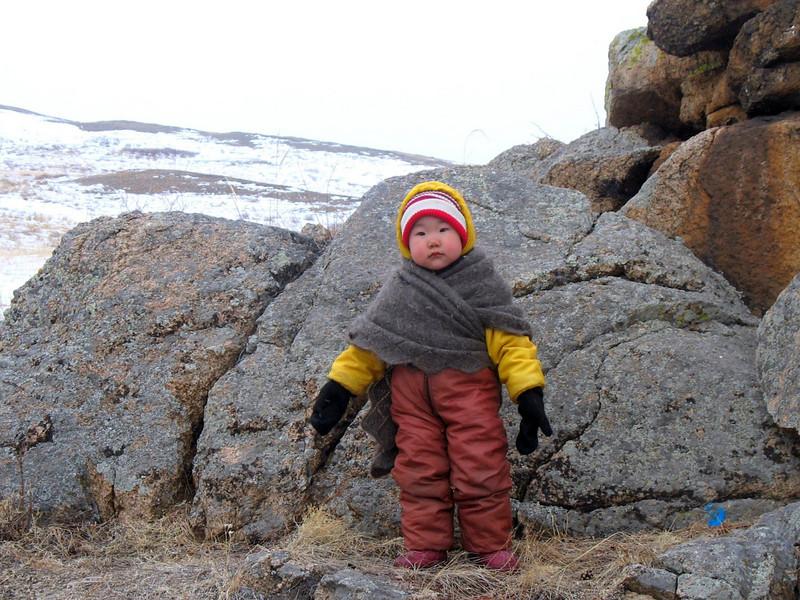 Bundled Buryat baby.