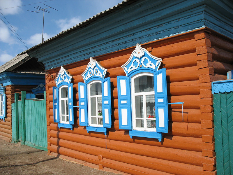 Traditional Russian windows.