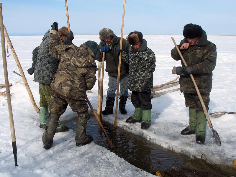 Fishing on Baikal.