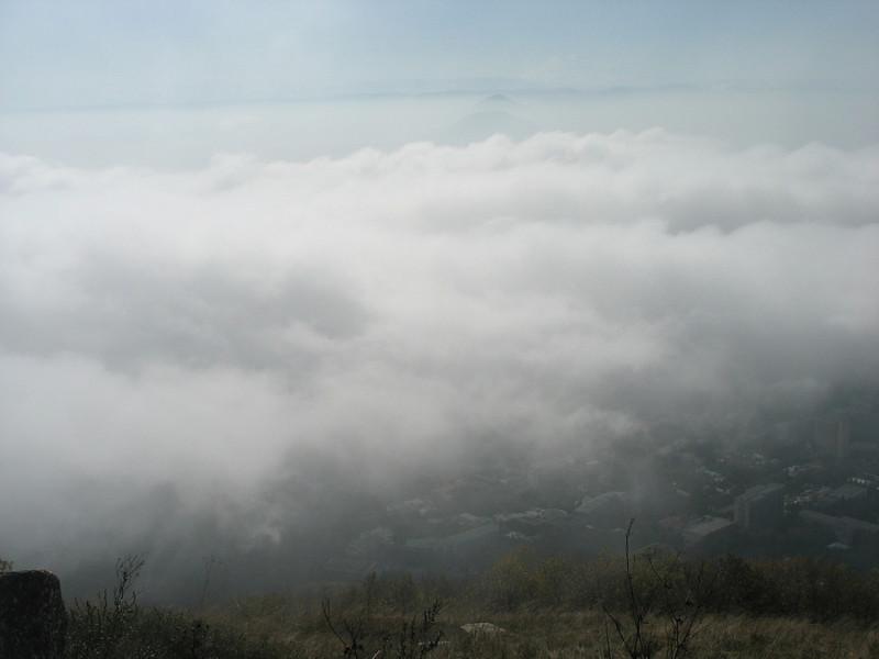 Pyatigorsk covered in fog.