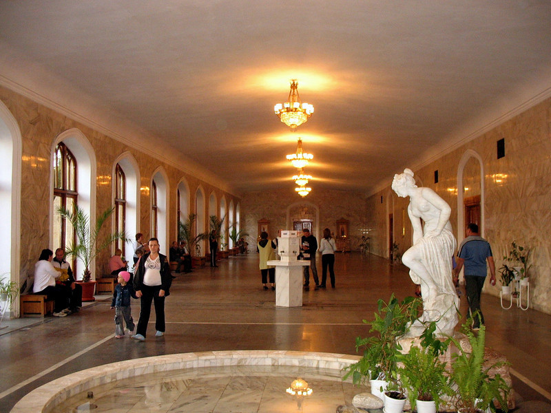 Mineral water hall in Kislovodsk.