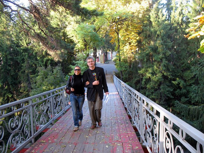 A stroll in Kislovodsk with Wafa, correspondent for Rusiya Al-Yaum, our Arabic language channel.