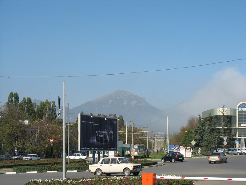 Pyatigorsk with Mt. Beshtau in the background.