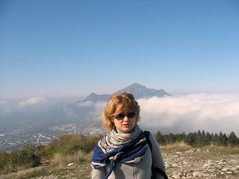 Ms. Levitskaya atop Mt. Mashuk.