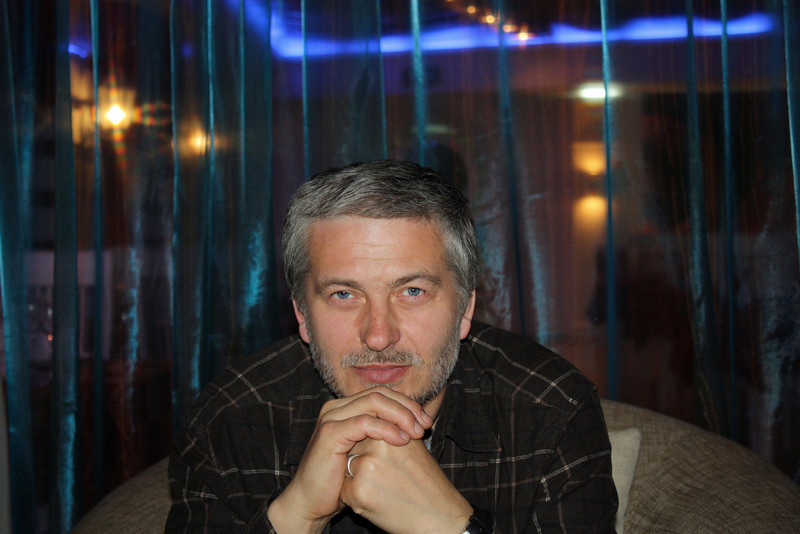 Vycheslav Titov, dining out in Chita.