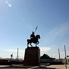 Aginsk warrior statue.