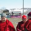 Buddhist monks at the Tsugol Datsan.