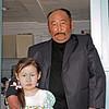 Buryat farmer with his daughter.