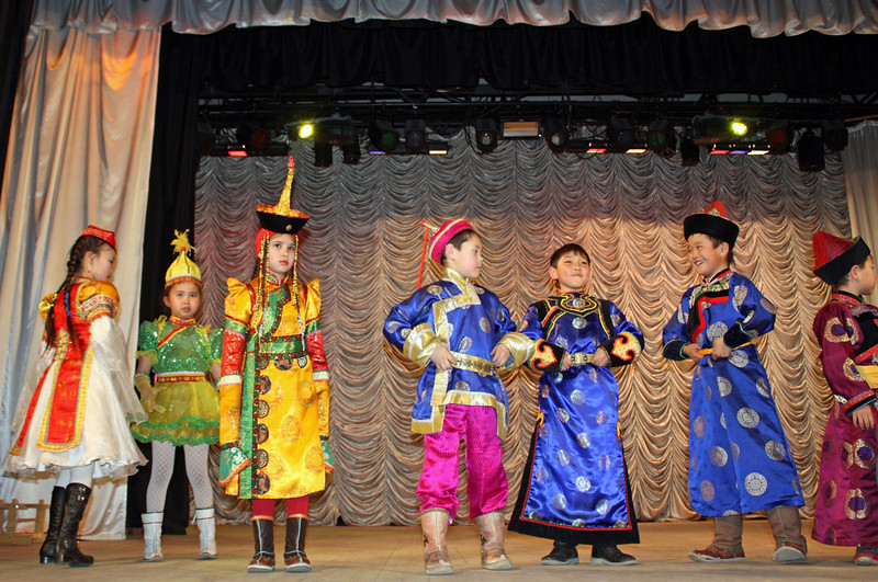 Kids fashion show at the Fashion Theater in Mogoytuy.