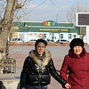 Ladies on the street in Aginsk.