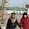 Ladies on the street in Aginsk.