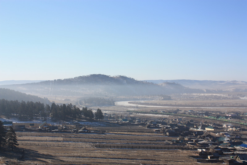 Morning haze.
