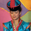Buryat girl in national dress.