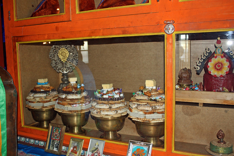 Offerings at the Tsugol Datsan.