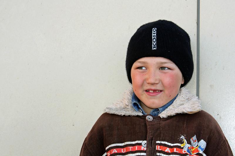 Russian boy in Aginsk.