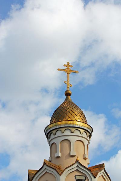 Chapel dome & cross.