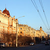 Golden light on Chita buildings.