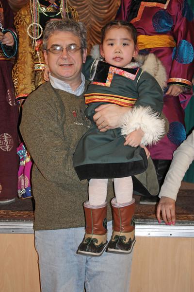 "Buryat girl with ""uncle"" Rustem."