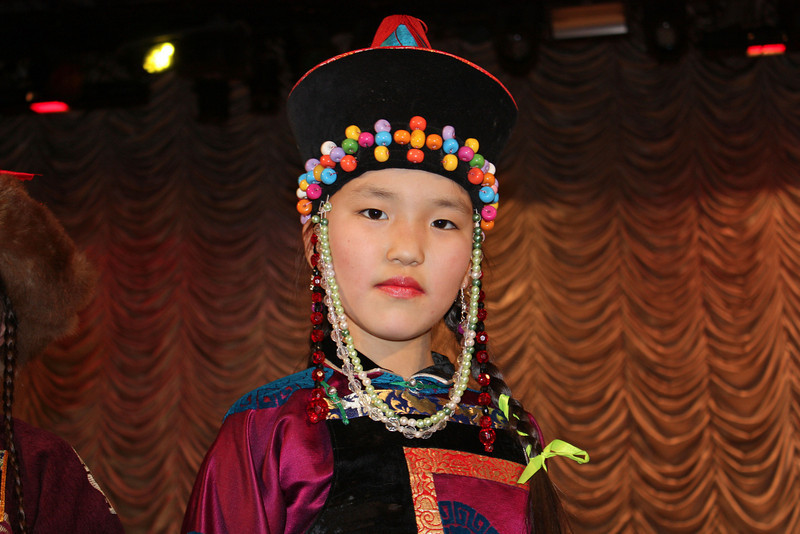 Buryat fashion - beads are in.