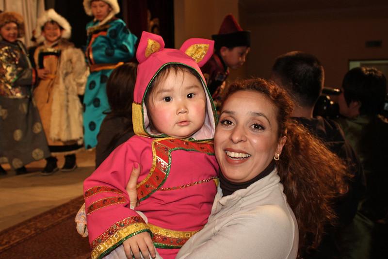 Wafaa with a little angel.
