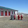 Wafaa & Staci speaking with the Tsugol Datsan monks.