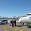 Chara Airport.  Аэропорт в Чаре. На заднем плане хребет Кодар.