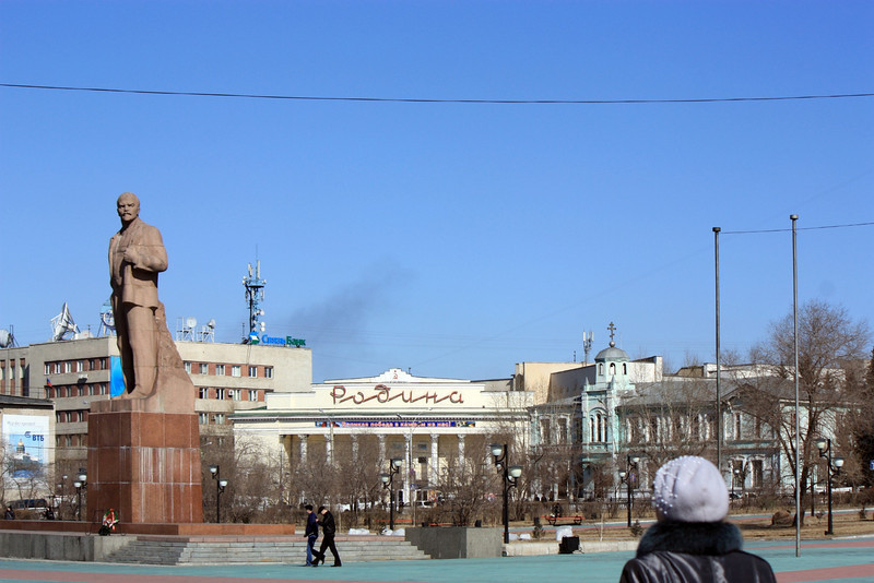 Lenin still stands in the center of Chita.