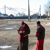 Texting monk.