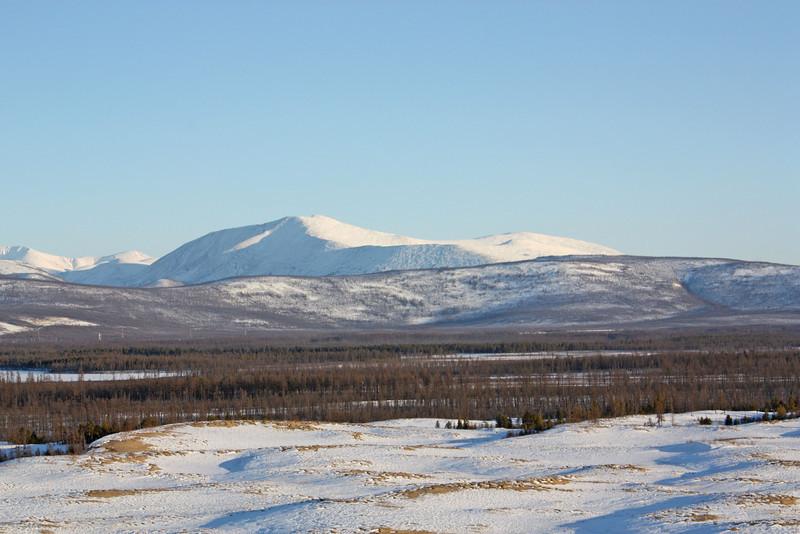 The Udokan Mountain range.