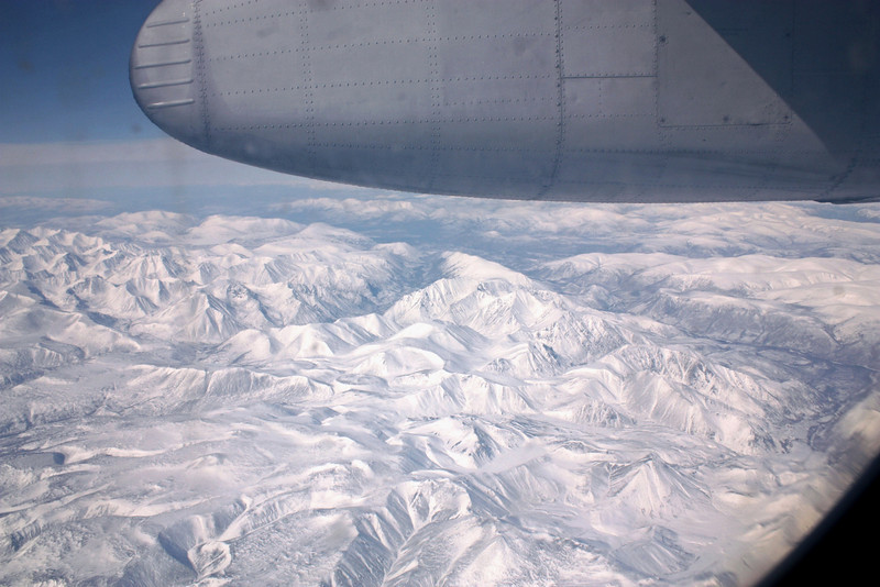 Flying over the Kodar Mountains on the way to Chara.