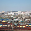 Chita railway yard & city view.