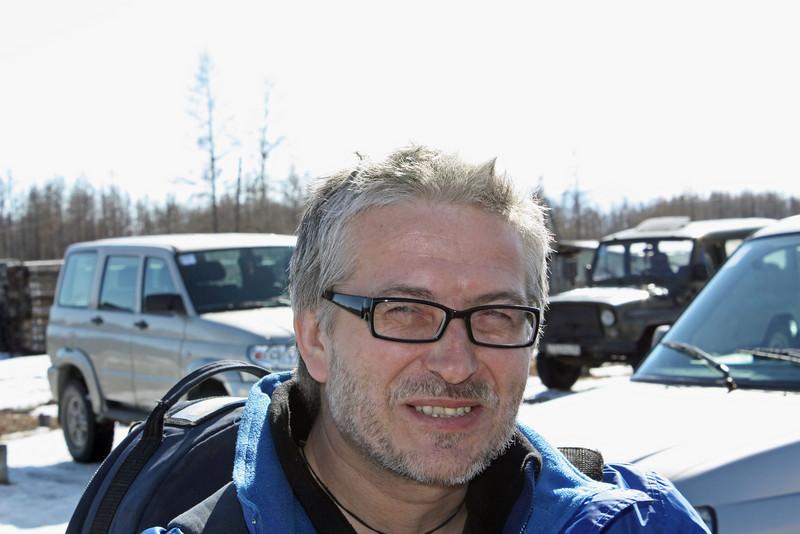 Slava at the Chara Airport.
