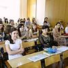 Journalism students listening to Safronov.