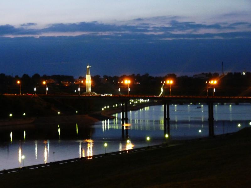 Чебоксары ночью. Cheboksary at night.