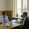 C ректором педагогического университета Борисом Гурьевичем Мироновым. With the Rector of the State Pedagogical University.