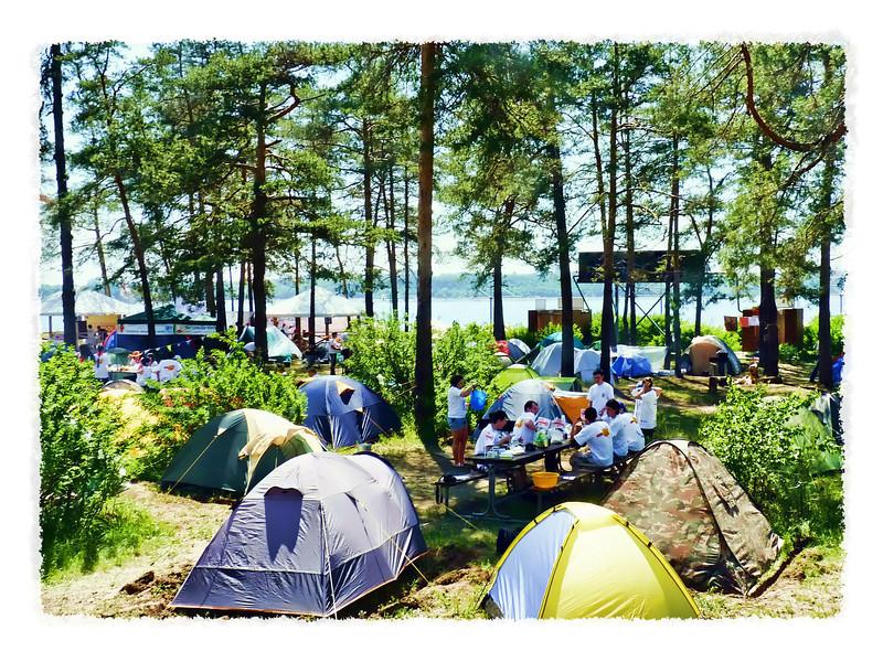 Idyllic camping days.