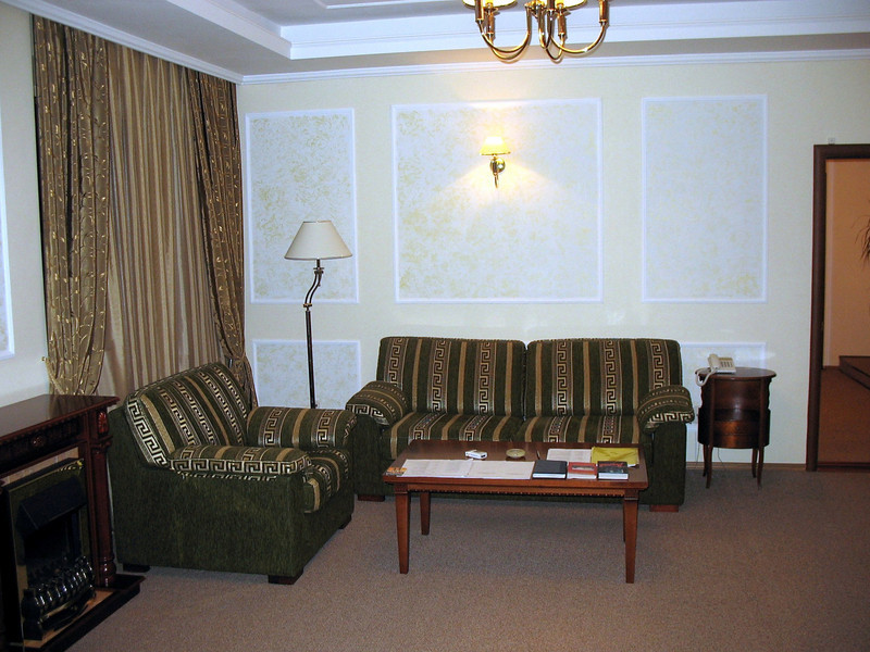 My suite at the Atal Hotel in Cheboksary - four rooms, two bathrooms.
