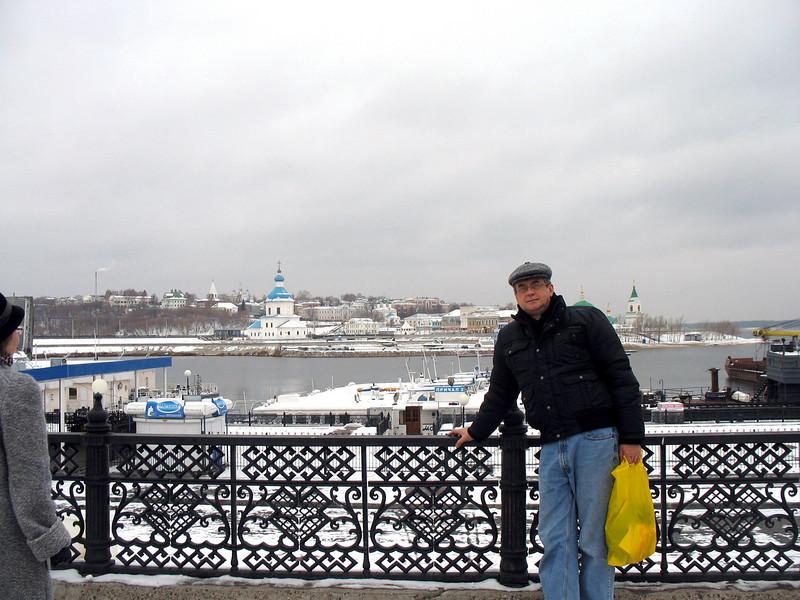 On a bridge in Chuvashia's capital, Chebolsary.