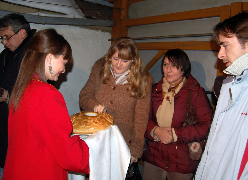 Bread is a traditional Russian welcome.