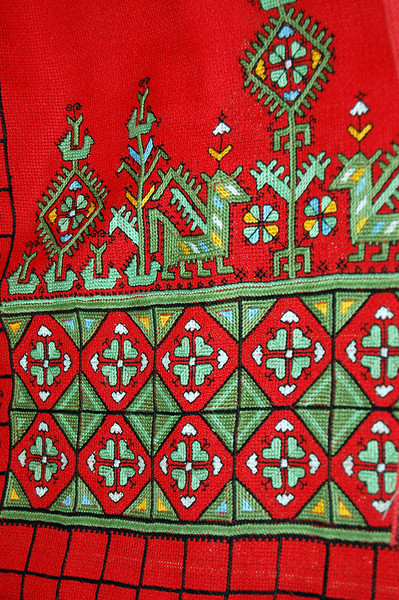 Embroidery detail.