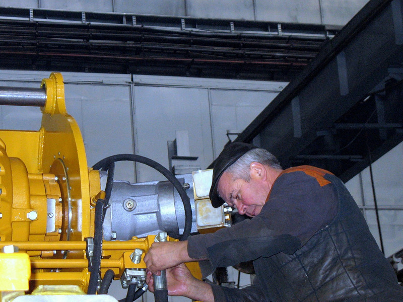 PromTractor factory worker.
