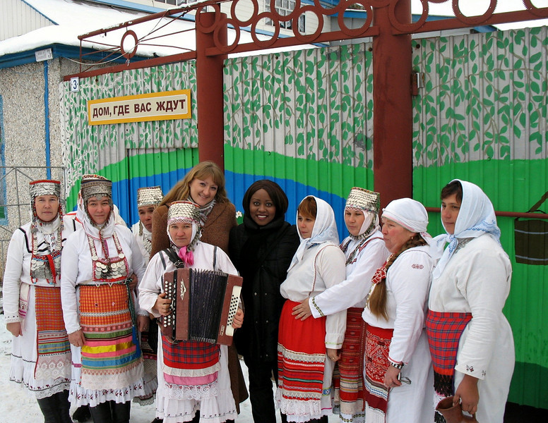 It wouldn't be Russia without a garmoshka.