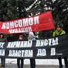 """Communist demonstration. """"Our pockets are empty""""."""