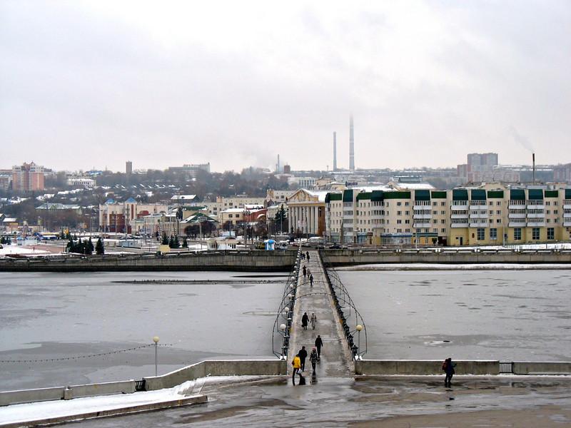 Bridge across the Volga. (Cheboksary, Chuvashia)