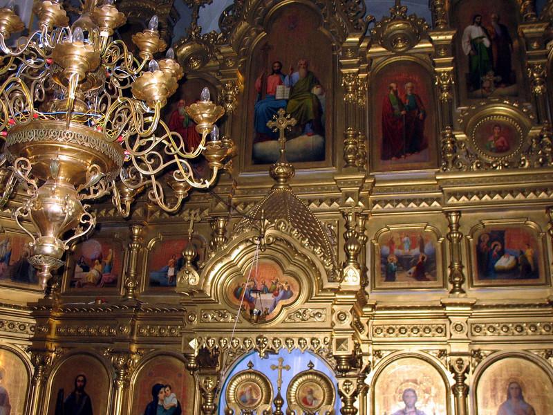 Church iconostasis. (Toguyevo, Chuvashia)