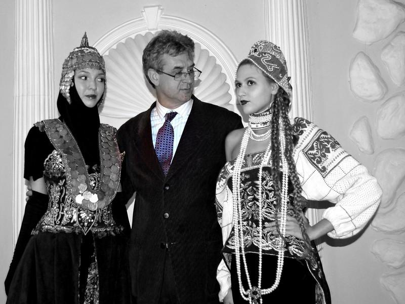 With Dadiani Models. Chuvashian fashion.